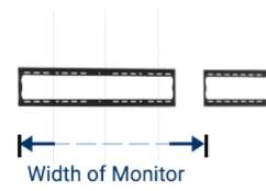 measure the width of your monitor from the edge of the bracket to the edge of the screen