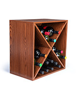 MDF wine rack storage cube with X insert