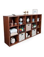 15 compartment wood cube commercial display organizer shelving
