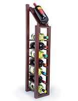 8-bottle 1 column wine rack