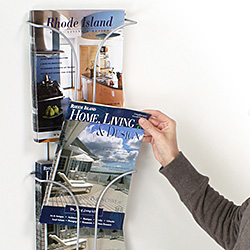 Plastic magazine wall rack with 12 pockets