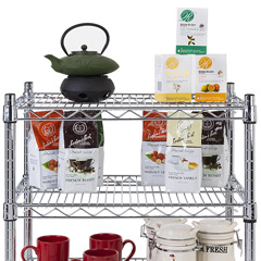 Wire frame floor and countertop racks