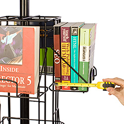 Floor-Standing Literature Rack with Extra Deep Pockets