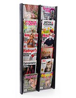 21.3 inch x 48.0 inch hanging magazine holder with 12 acrylic pockets