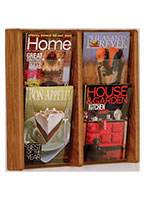 Adjustable brochure and magazine wall rack with acrylic front panels