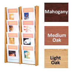 8 pocket magazine holder wall mount for doctor's offices and lobbies