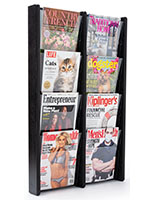 21.3 inch x 33.5 inch 8 pocket magazine holder only weighs 15 pounds