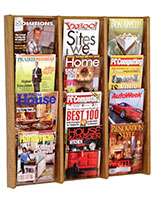 Adjustable wall brochure and magazine holder for display versatility