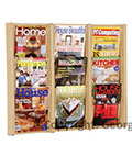 Wall Mounted Wood Magazine Rack