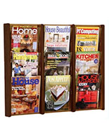 Display rack magazine holder for wall for 8.5x11 literature