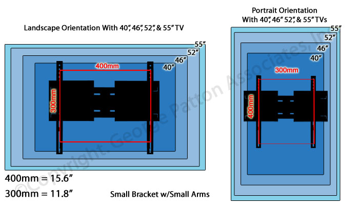 Sliding Tv Mount Universal Bracket With Extension Arms