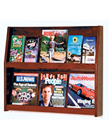 Shelf magazine holder for wall in doctor's offices and building lobbies
