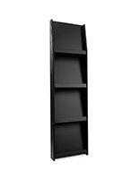 (8) pocket four shelf wall mount literature display