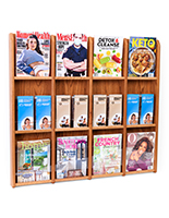 Wall mount brochure and magazine display rack with mounting hardware kit
