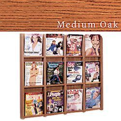 Wall mount brochure and magazine display rack with acrylic front panels