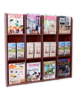 12 pocket magazine wall for doctor's offices and lobbies