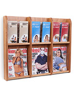 2 tier magazine holder for wall mount use