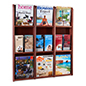 wall mounted wood magazine shelving and office furniture