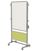 Double Sided Whiteboard with Magnetic Surface