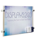 "Acrylic 17"" x 11"" Sign Holder with Calling Card Pocket"