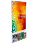 "Acrylic 24"" x 36"" Poster Frame with Adjustable Literature Pocket for Catalogs"