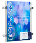 "Multi Purpose 8.5"" x 11"" Sign Frame with Business Card Pocket"
