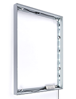 36 Wide x 48 tall SEG fabric illuminated wall frame