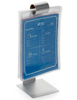 "10.5"" Stainless Steel Flip Menu Stand"