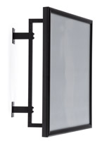Black 22 x 28 swivel wall sign holder