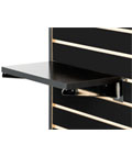 "14"" Black Slatwall Shelf for Retail Stores"