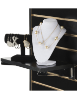 "Retail 14"" Black Slatwall Shelf"