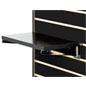 "14"" Black Slatwall Shelf with Chrome Brackets"