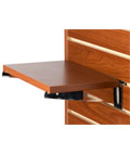 "Melamine 14"" Cherry Slatwall Shelf"