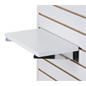 "14"" Slatwall Shelf with Chrome Backets"