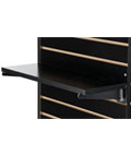 "Durable 22.25"" Black Slatwall Shelf"