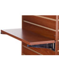 "22.25"" Cherry Slatwall Shelf for Retail"