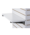 "22.25"" Slatwall Shelf with Chrome Brackets"