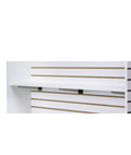"47.75"" Slatwall Shelf with Chrome Brackets"