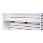 "47.75"" Slatwall Shelf with White Melamine Finish"
