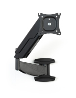 Monitor wall mount articulating arm with multiple adjustment points