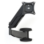 Black monitor wall mount articulating arm
