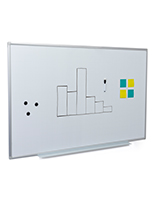 White ghost grid magnetic whiteboard