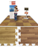 Dark Oak & Light Oak Wood Grain Floor Mats, (26) 2' x 2' Tiles