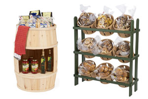 Wood and Wicker Merchandising Fixtures