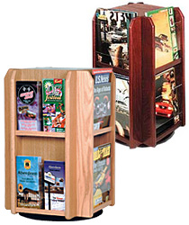 Wood Countertop Magazine Holders
