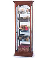 This wood show case is suitable for either home or office use.