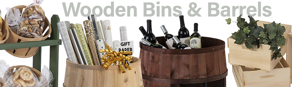 Wooden Bins & Barrels
