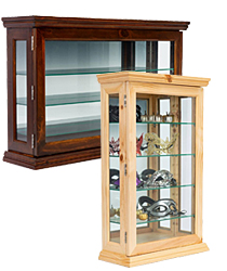 Wooden Curio Cabinet for Coutertop Use