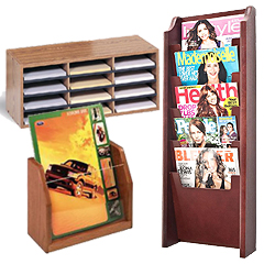 Wood Magazine Holders for Walls and Counters