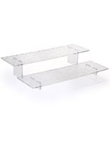Set of 2 Acrylic Stands with Water Ripple Texture